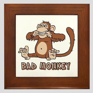 Bad Monkey Framed Tile