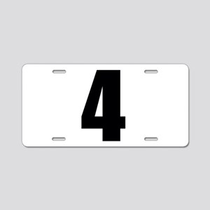 Number Four - No. 4 Aluminum License Plate