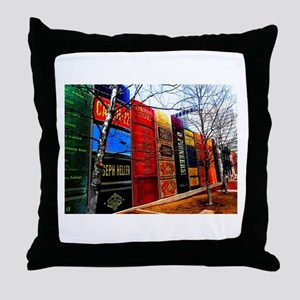 Block of Books! Throw Pillow