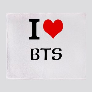 I love BTS Throw Blanket