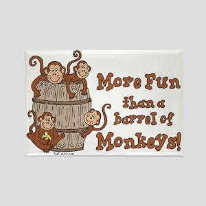 Barrel of Monkeys Rectangle Magnet