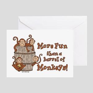Barrel of Monkeys Greeting Card