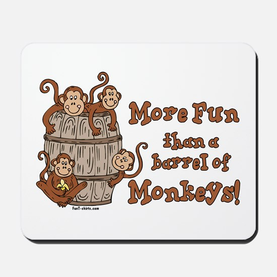 Barrel of Monkeys Mousepad
