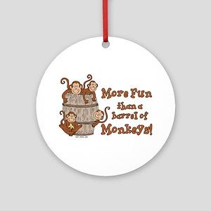Barrel of Monkeys Ornament (Round)