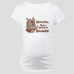 Barrel of Monkeys Maternity T-Shirt