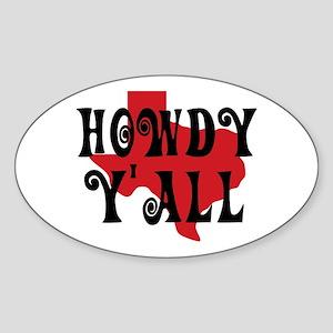 Howdy Yall Sticker