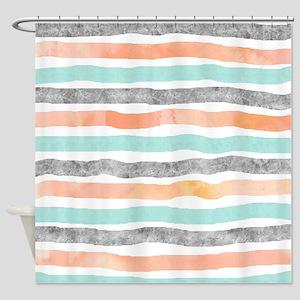 grey and orange shower curtain. Shower Curtain Modern Grey And Orange Curtains  CafePress