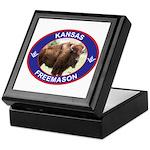 Kansas Free Mason Keepsake Box