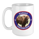 Kansas Free Mason Large Mug