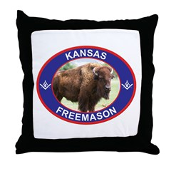 Kansas Free Mason Throw Pillow