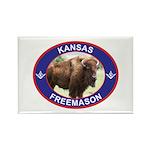 Kansas Free Mason Rectangle Magnet