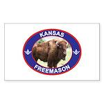 Kansas Free Mason Rectangle Sticker