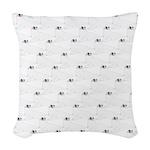 Baby Harp Seal Pattern Woven Throw Pillow
