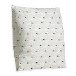 Baby Harp Seal Pattern Burlap Throw Pillow