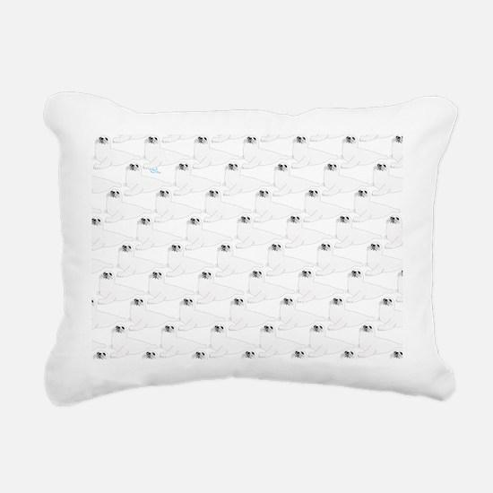 Baby Harp Seal Pattern Rectangular Canvas Pillow