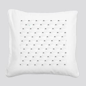Baby Harp Seal Pattern Square Canvas Pillow