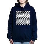 Baby Harp Seal Pattern Women's Hooded Sweatshirt