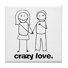 Crazy Love (w) Tile Coaster