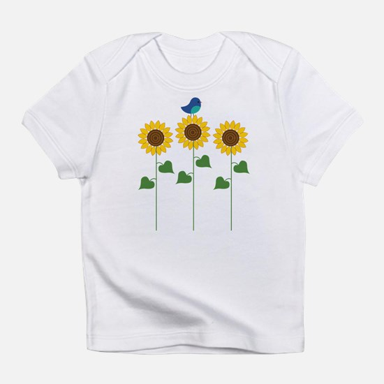 Sunflower Garden Bird Infant T-Shirt