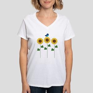 Sunflower Garden Bird T-Shirt