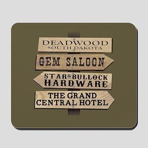 Deadwood Sign Post Full Bleed Mousepad