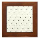 Baby Harp Seal Pattern Framed Tile
