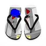 An American Suitcase in Paris Flip Flops
