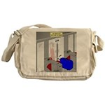 An American Suitcase in Paris Messenger Bag