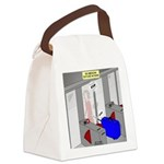 An American Suitcase in Paris Canvas Lunch Bag