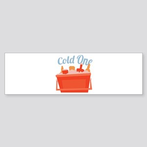 Cold One Ice Chest Bumper Sticker