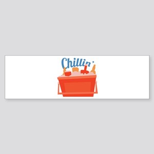 Chillin Ice Chest Bumper Sticker