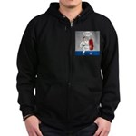 Karate Kick Dilemma Zip Hoodie (dark)