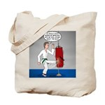 Karate Kick Dilemma Tote Bag