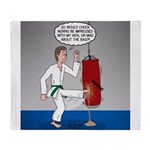 Karate Kick Dilemma Throw Blanket