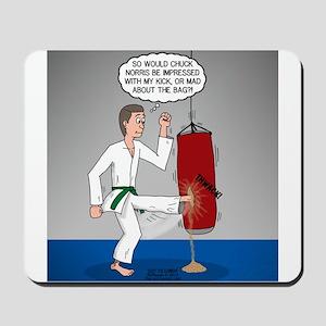 Karate Kick Dilemma Mousepad