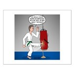 Karate Kick Dilemma Small Poster