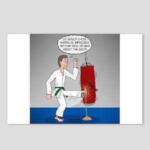 Karate Kick Dilemma Postcards (Package of 8)