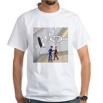 Airplane Exit White T-Shirt