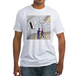 Airplane Exit Fitted T-Shirt
