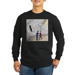 Airplane Exit Long Sleeve Dark T-Shirt