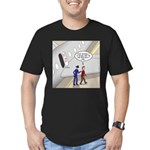 Airplane Exit Men's Fitted T-Shirt (dark)