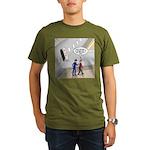 Airplane Exit Organic Men's T-Shirt (dark)