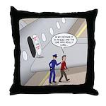 Airplane Exit Throw Pillow