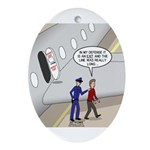 Airplane Exit Oval Ornament
