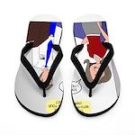 Airplane Ticket Issue Flip Flops