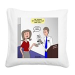 Airplane Ticket Issue Square Canvas Pillow