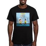 Popcorn Puppy Dog Eyes Men's Fitted T-Shirt (dark)