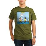 Popcorn Puppy Dog Eye Organic Men's T-Shirt (dark)