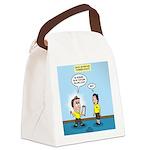 Popcorn Puppy Dog Eyes Canvas Lunch Bag