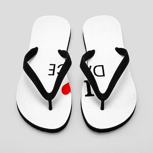 I Love Dance Flip Flops